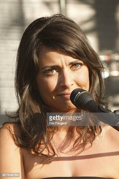 "Celine Mastrorelli performs during ""Musik Elles"" festival in Meaux."