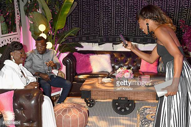 Celine Orji and actress Yvonne Orji attend the HBO's Insecure Premiere After Party at Studio 11 on October 6 2016 in Los Angeles California