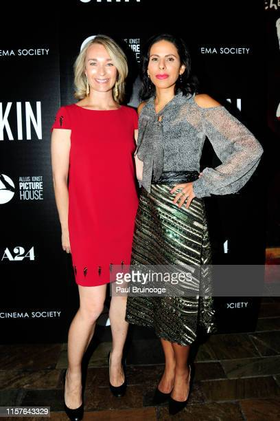 Celine Rattray and Meriam AlRashid attend Allusionist Picture House And The Cinema Society Host A Special Screening Of A24's Skin at The Roxy Cinema...