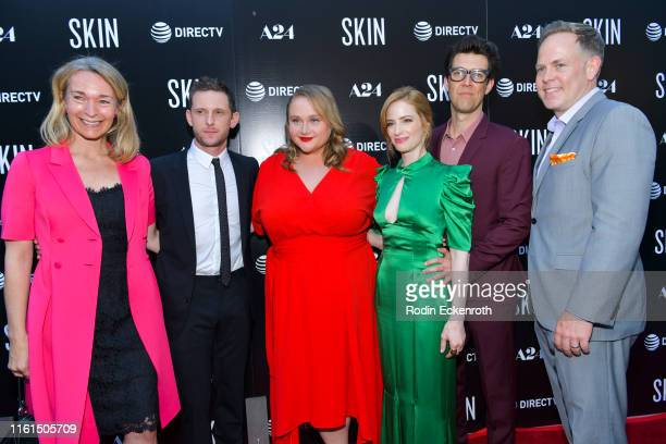 Celine Rattray Jamie Bell Danielle Macdonald Jaime Ray Newman Guy Nattiv and Tim Gibson attend LA special screening of A24's Skin at ArcLight...