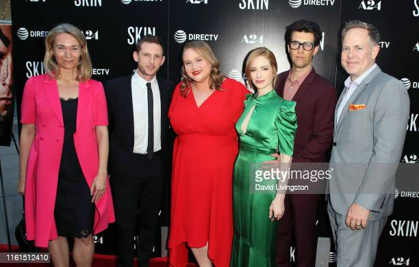Celine Rattray Jamie Bell Danielle Macdonald Jaime Ray Newman Guy Nattiv and Tim Gibson attend the LA Special Screening of A24's Skin at ArcLight...