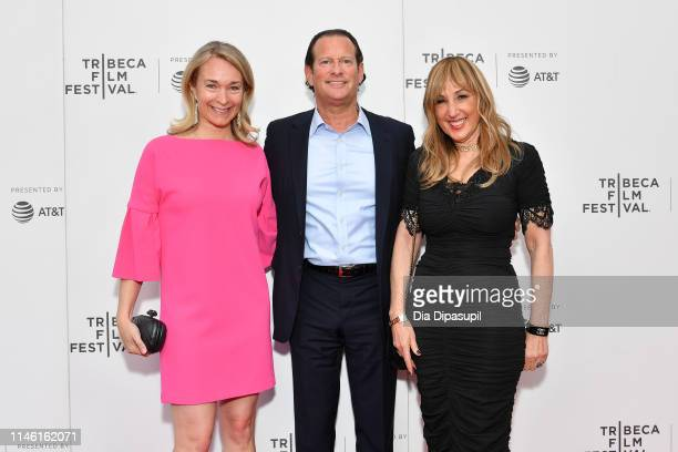 Celine Rattray Mark Axelowitz and Joanna Plafsky attend the Driveways screening during the 2019 Tribeca Film Festival at Village East Cinema on April...