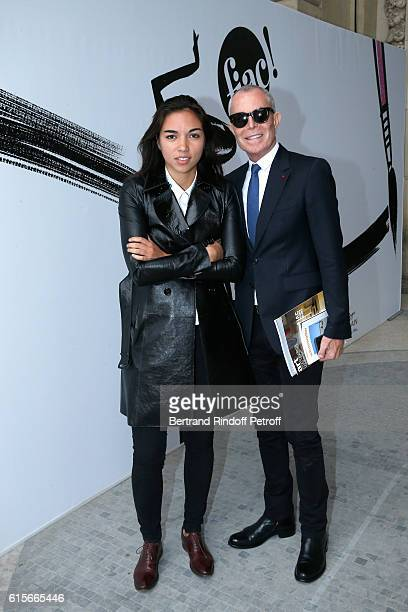 Celine Ray and Stylist JeanClaude Jitrois attend the FIAC 2016 International Contemporary Art Fair Press Preview Held at Le Grand Palais on October...