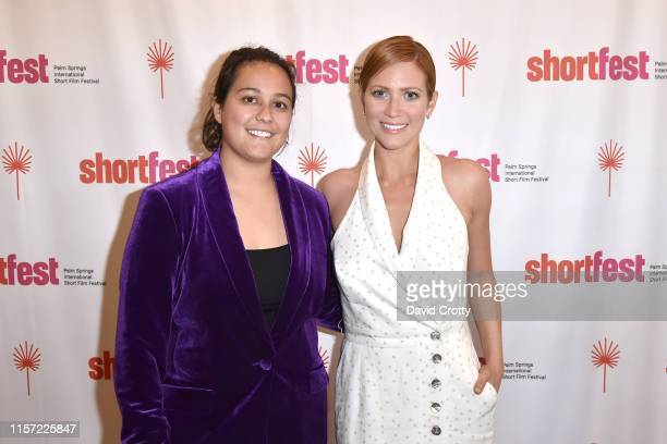 Celine Roustan and Brittany Snow attend the 25th Annual Palm Springs International ShortFest Day 3 at Camelot Theatres on June 20 2019 in Palm...
