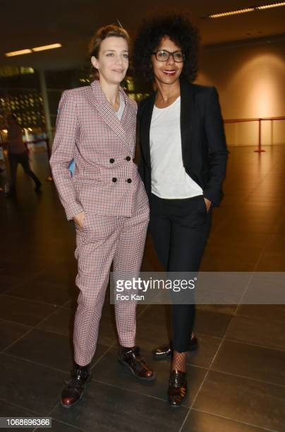 Celine Salette and Audrey Pulvar attend the 'Mobile Film Festival Stand Up 4 Human Rights Awards' Ceremony Hosted by Youtube Creators For Change at...