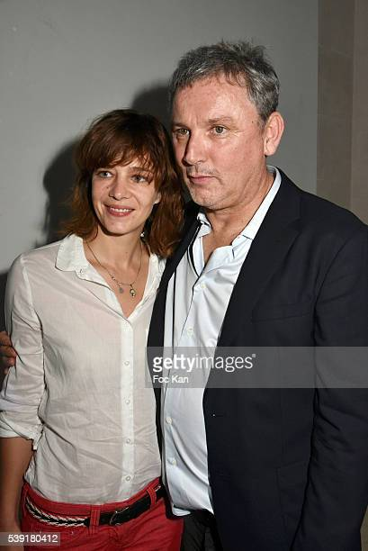 Celine Salette and Zadig Voltaire CEO Thierry GillierÊ attend Zadig Voltaire New Perfume Launch Launch Party at 51 Avenue Iena on June 9 2016 in...
