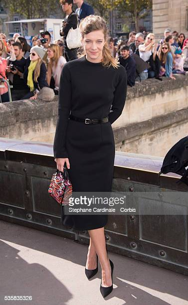 Celine Salette attends the Christian Dior Spring/Summer 2013 show as part of Paris Fashion Week at Hotel National des Invalides in Paris