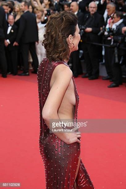 Celine Salette attends the 'Money Monster' premiere during the 69th annual Cannes Film Festival at the Palais des Festivals on May 12 2016 in Cannes