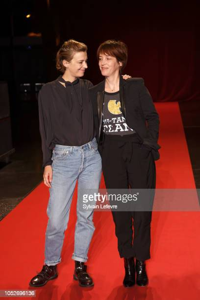 Celine Sallette and Florence LoiretCaille attends closing ceremony At 10th Film Festival Lumiere on October 21 2018 in Lyon France