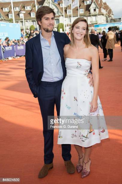 Celine Sallette and guest arrive at the closing ceremony of the 43rd Deauville American Film Festival on September 9 2017 in Deauville France