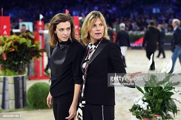 Celine Sallette and Virginie CouperieEiffel attend the Gucci Paris Masters 2014 at Paris Nord Villepinte on December 7 2014 in Paris France