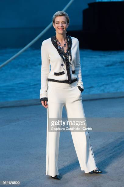 Celine Sallette attends the Chanel Cruise 2018/2019 Collection at Le Grand Palais on May 3 2018 in Paris France