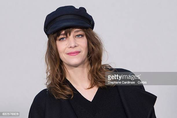 Celine Sallette attends the Chanel Haute Couture Spring Summer 2017 show as part of Paris Fashion Week on January 24, 2017 in Paris, France.