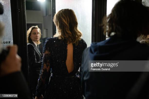 Celine Sciamma and Adèle Haenel leave the Salle Pleyel after the award for best director was given to Roman Polanski. During the Cesar Film Awards...