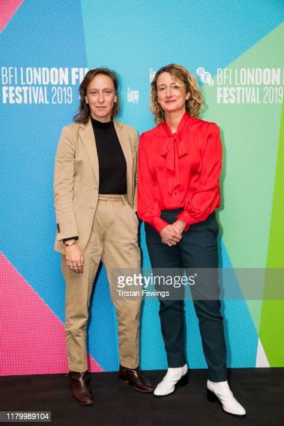Celine Sciamma and BFI London Film Festival Director Tricia Tuttle attend Screen Talk at the 63rd BFI London Film Festival at the BFI Southbank on...