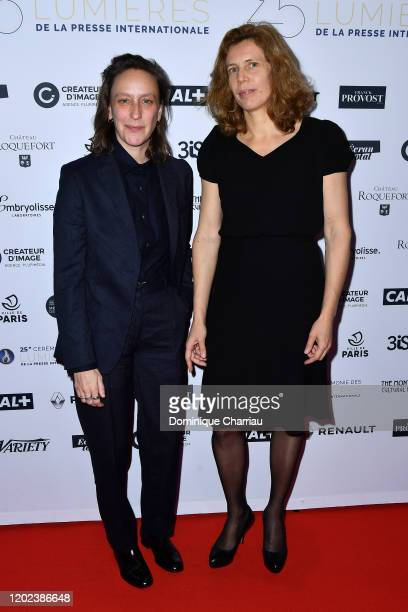 Celine Sciamma and Claire Mathon attends the 25th Lumieres De La Presse Internationale Ceremony on January 27 2020 in Paris France