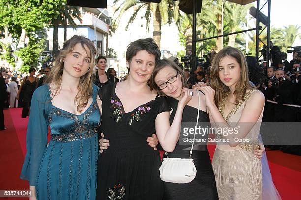 Celine Sciamma Pauline Acquart Louise Blachere and Adele Haene arrive at the premiere of 'Zodiac' during the 60th Cannes Film Festival