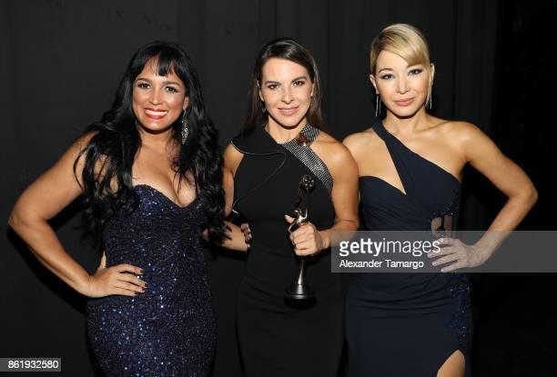 Celines Toribio Kate del Castillo and Katherine Castro are seen at the 2nd Annual Women In Film Dominicana Iris Movie Awards 2017 at Teatro La Fiesta...
