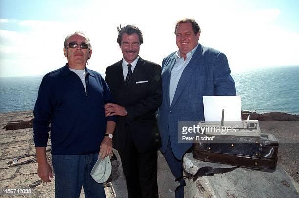 """Celino Bleiweiss , Oliver Tobias, Ottfried Fischer, ARD-Film """"Der Bestseller - Leo auf Gran Canaria"""" am auf Gran Canaria, Spanien."""