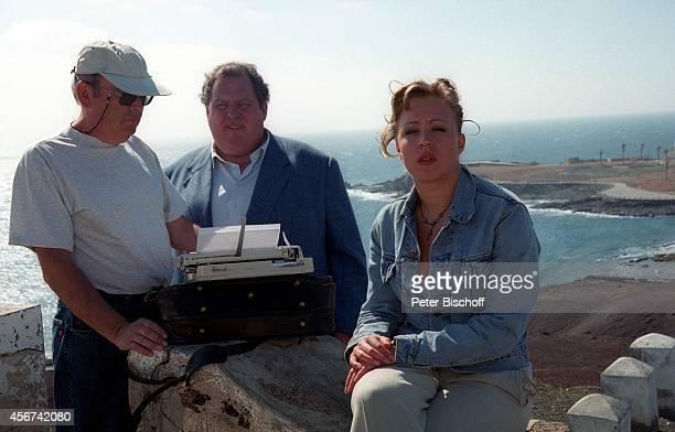"""Celino Bleiweiss , Ottfried Fischer, Nina Proll, ARD-Film """"Der Bestseller - Leo auf Gran Canaria"""" am auf Gran Canaria, Spanien."""