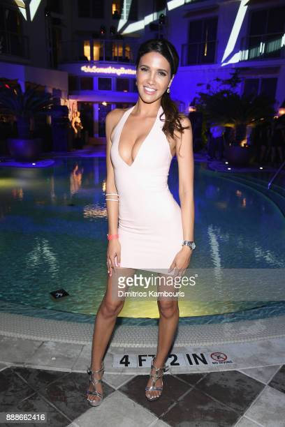 Celisa Franco attends the Maxim December Miami Issue Party Presented by blu on December 8 2017 in Miami Beach Florida