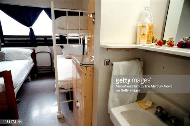 Cell at the Federal Correctional Institution, Dublin is photographed in Dublin, Calif. On March 2, 2000.
