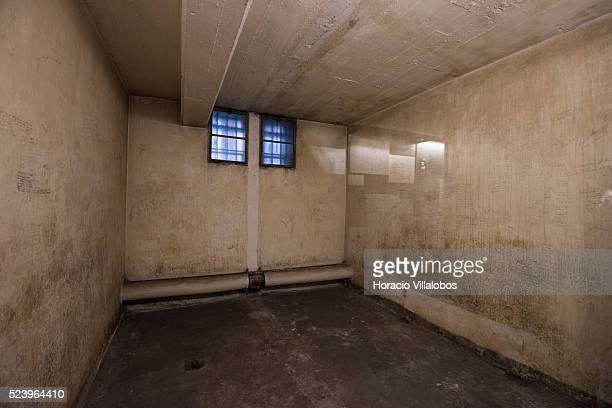 Cell –at times holding 30 detainees with prisoners's inscriptions at the basement of the ELDE building regional HQ of the Gestapo from 1935 to 1945...
