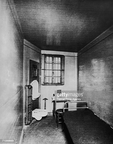 A cell of Joliet Correctional Center in Joliet Illinois January 1936