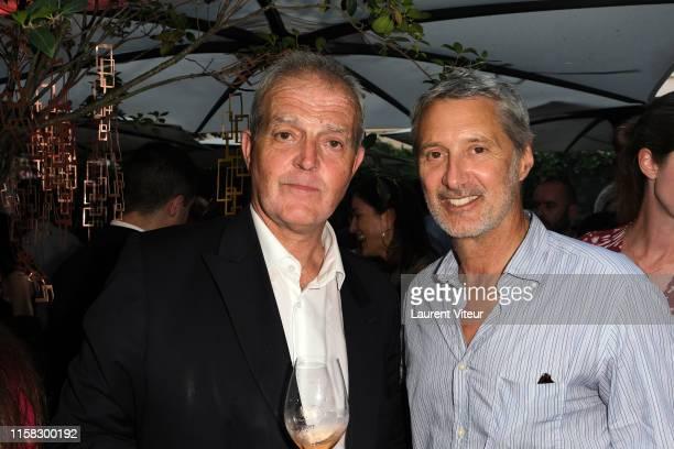 Cellar master Regis Camus and Antoine de Caunes attend the Millesime Champagne Rose 2008 By Maison Piper Heidsieck : Launch Party At Pavillon De La...