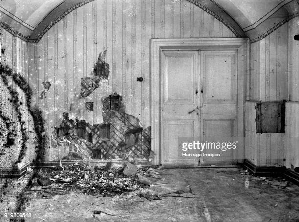 Cellar of Ipatiev house in Yekaterinburg after the Execution of the Imperial Family in the night on 1617 July 1918 1919 Found in the collection of...