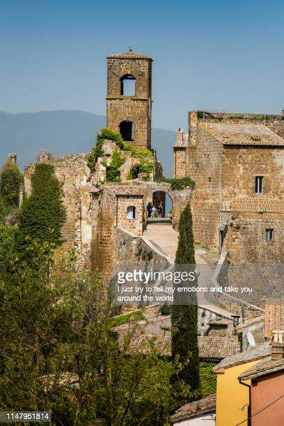 celleno, viterbo, lazio - italy - latium stock pictures, royalty-free photos & images