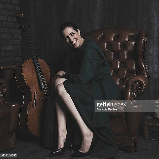 Cellist Camille Thomas is photographed for Self Assignment on April 5 2016 in Paris France