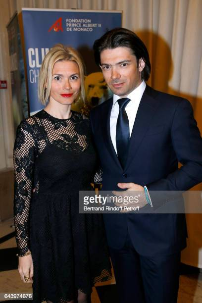 Cellist Gautier Capucon and his wife Delphine attend the celebration of the 10th Anniversary of the Fondation Prince Albert II De Monaco at Salle...