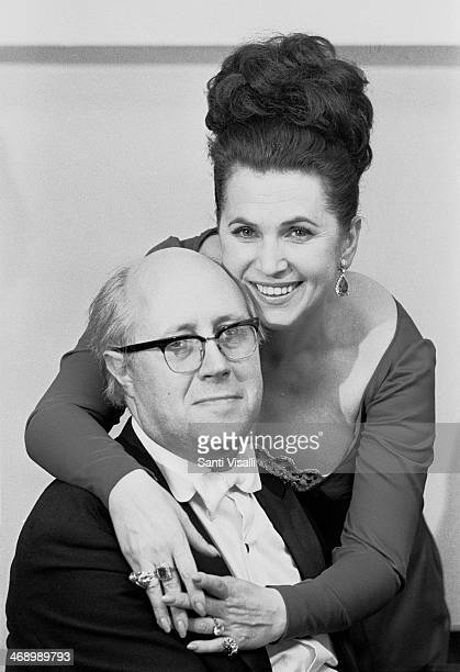 Cellist Mstislav Rostropovich with wife Galina on March 20 1975 in New York New York