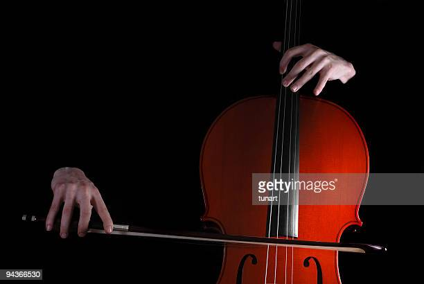 cellist - violin family stock photos and pictures