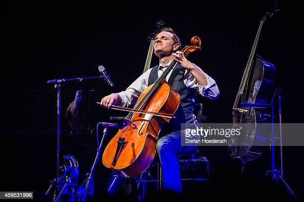 Cellist Steven Sharp Nelson of The Piano Guys performs live on stage during a concert at Tempodrom on November 24 2014 in Berlin Germany