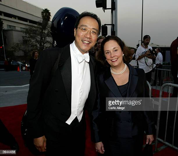 Cellist Yo Yo Ma and wife Jill attend the Walt Disney Concert Hall opening gala day two of three October 24 2003 in Los Angeles California Tonight...