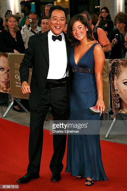 Cellist YoYo Ma and daughter Emily Ma attends the season opening event at the Metropolitan Opera House Lincoln Center on September 22 2008 in New...