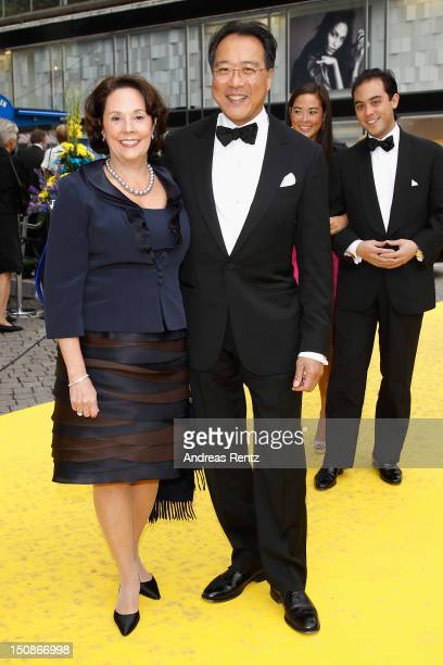 Cellist Yo-Yo Ma and his wife arrive for the Polar Music Prize at Konserthuset on August 28, 2012 in Stockholm, Sweden.