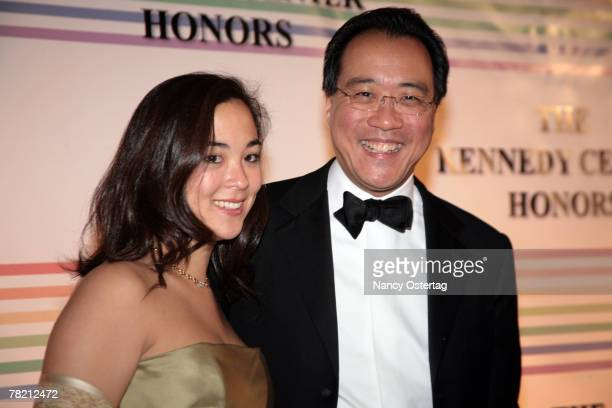 Cellist YoYo Ma arrives and his daughter Emily arrive at the 30th Annual Kennedy Center Honors December 2 2007 in Washington DC