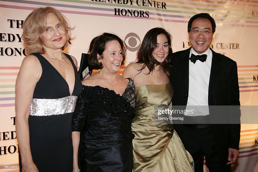 Cellist Yo-Yo Ma arrives with his wife Jill Hornor , daughter Emily