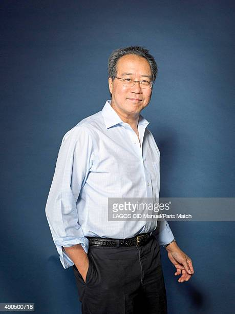 Cellist YoYo Ma is photographed for Paris Match on September 3 2015 in Paris France