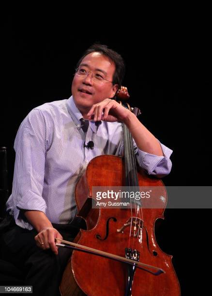Cellist YoYo Ma performs at the 2010 New Yorker Festival at Acura at SIR Stage37 on October 2 2010 in New York City