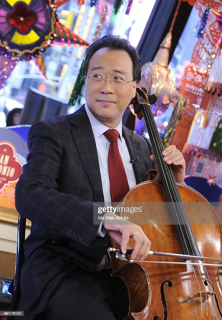 AMERICA - Cellist YoYo Ma performs on Christmas morning on GOOD MORNING AMERICA, Friday, Dec. 25 (7-9am, ET) airing on the ABC Television Network. GM09 (Photo by Ida Mae Astute/ABC via Getty Images) YOYO MA