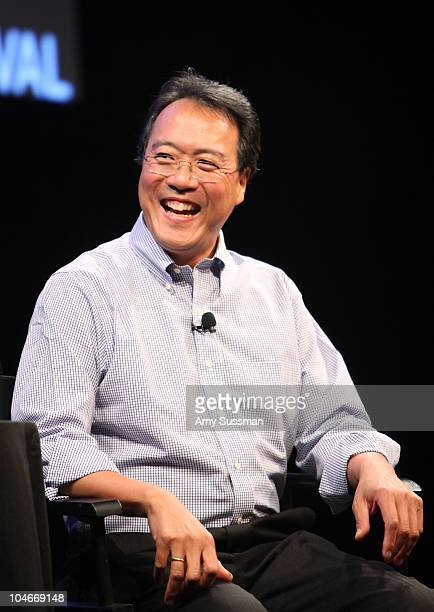 Cellist YoYo Ma speaks at the 2010 New Yorker Festival at Acura at SIR Stage37 on October 2 2010 in New York City