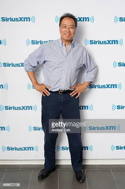 Cellist YoYo Ma visits SiriusXM Studios on September 24 2015 in New York City