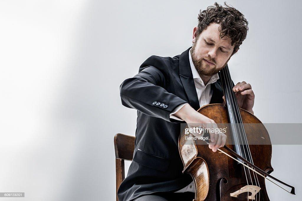 cello player : Stock Photo