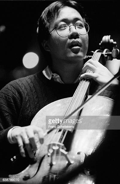 Cello player Yo Yo Ma perform on March 31st 1993 at the Concertgebouw in Amsterdam Netherlands