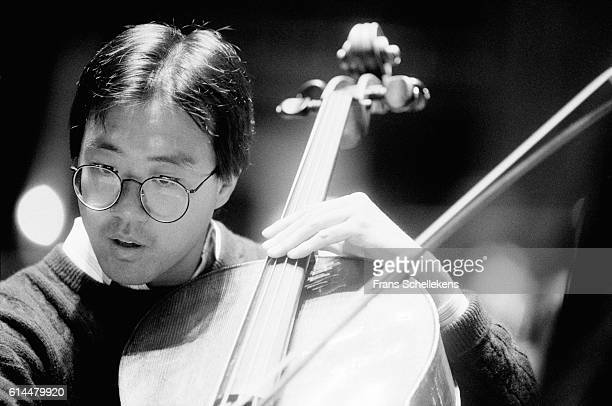 Cello player Yo Yo Ma performs on March 31st 1993 at the Concertgebouw in Amsterdam Netherlands