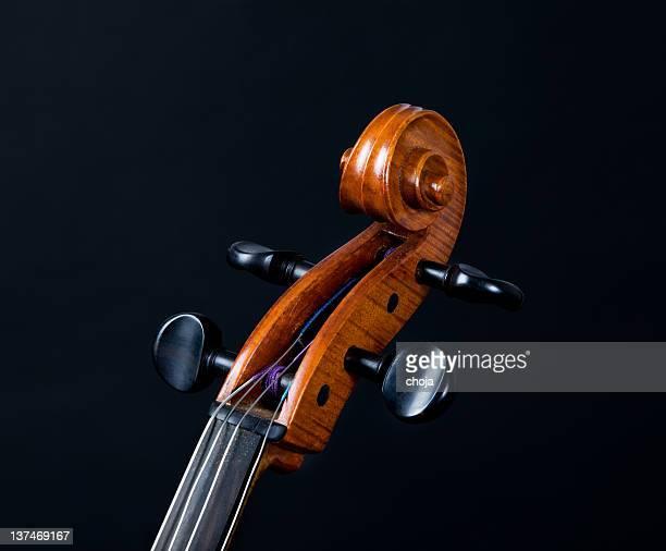 violoncelo a rolar em fundo preto - orquestra - fotografias e filmes do acervo